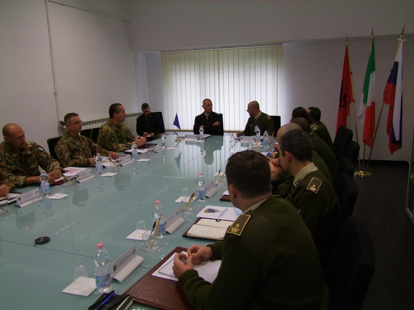 NATO SFA COE: The ITA NRDC Commander visits the Centre of Excellence