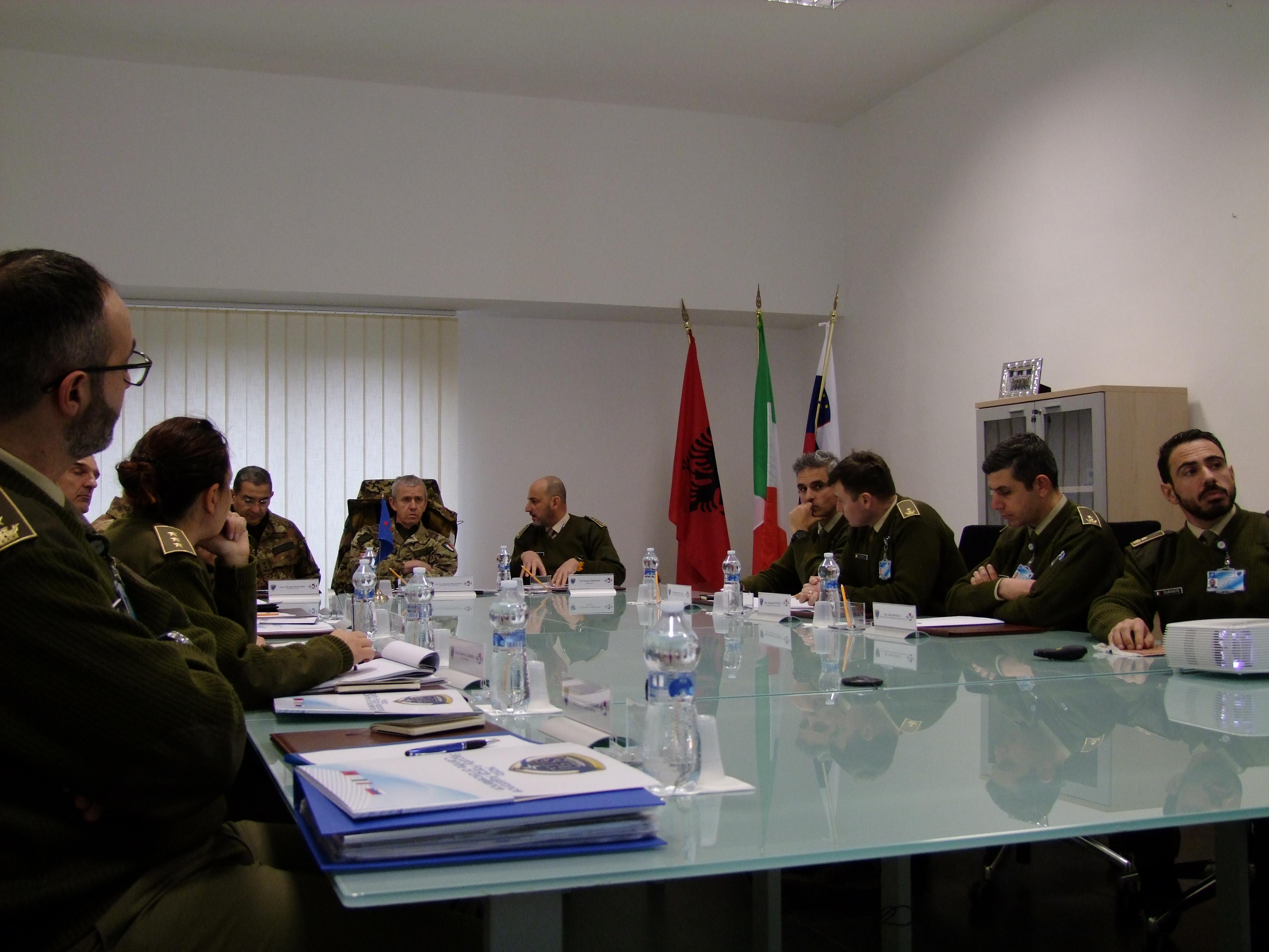 NATO SFA COE: the COMFORDOT Commander visits the Centre