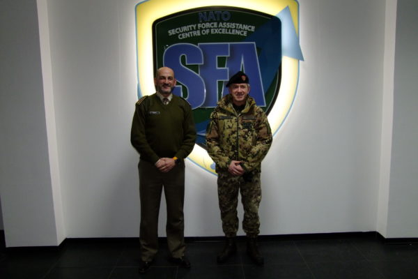 COMFORDOT Commander - Lieutenant General Giovanni Fungo and NATO SFA COE Director