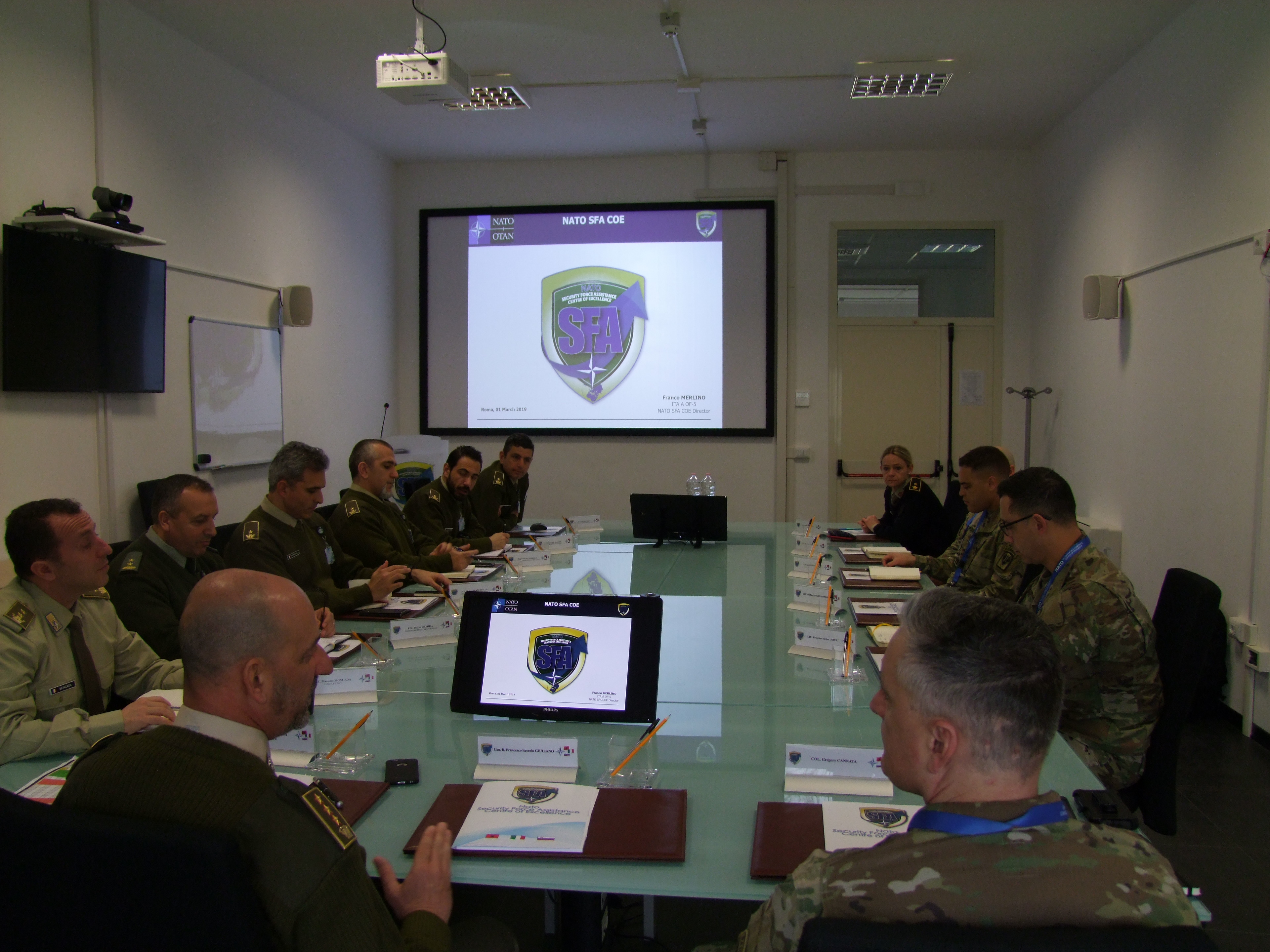 The US Army representatives met the NATO SFA COE Staff