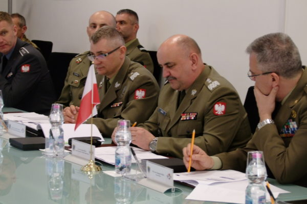Polish Armed Forces Commander and his staff