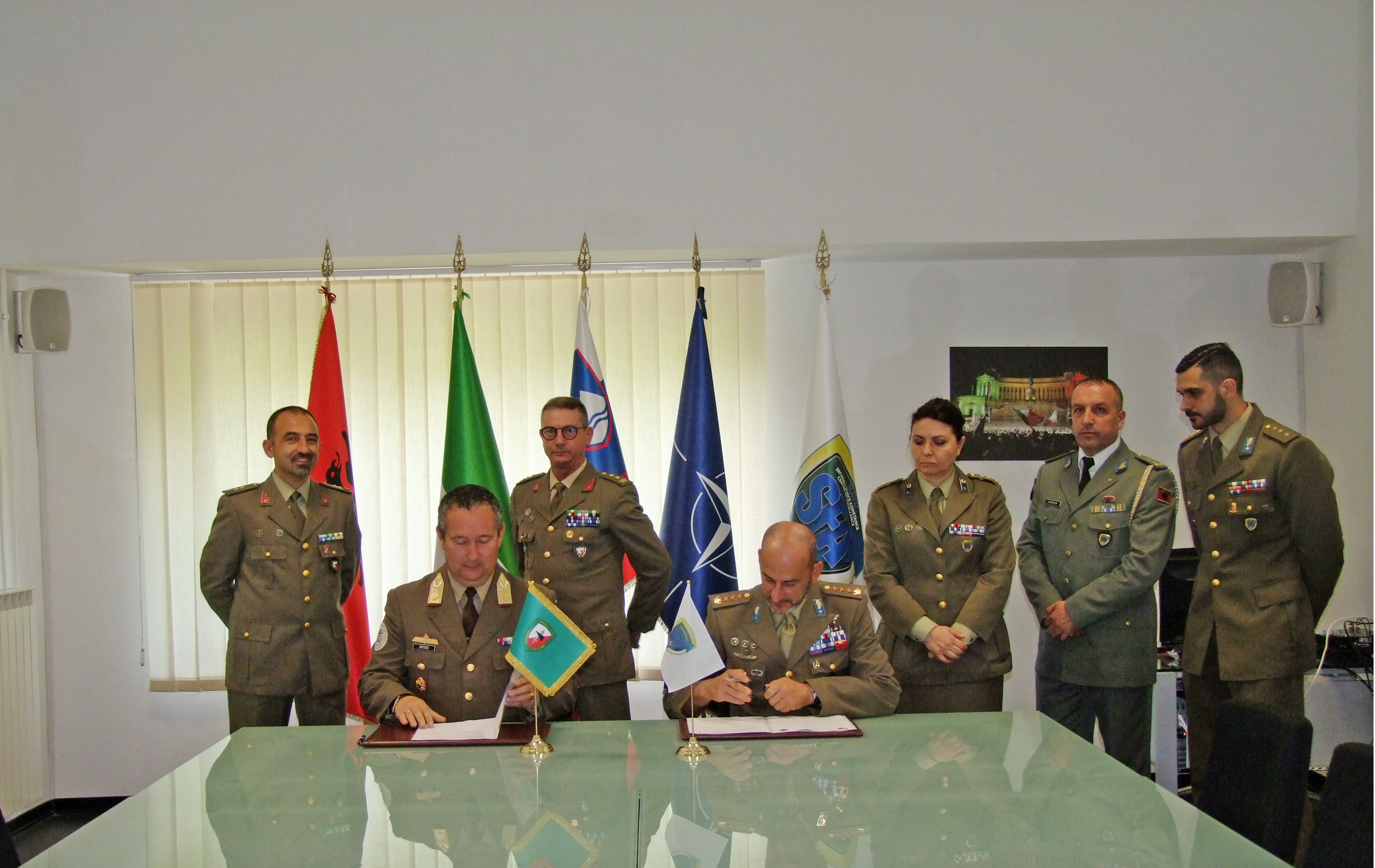 A Memorandum of Cooperation on Security Force Assistance was signed by NRDC-ITA and NATO SFA COE.