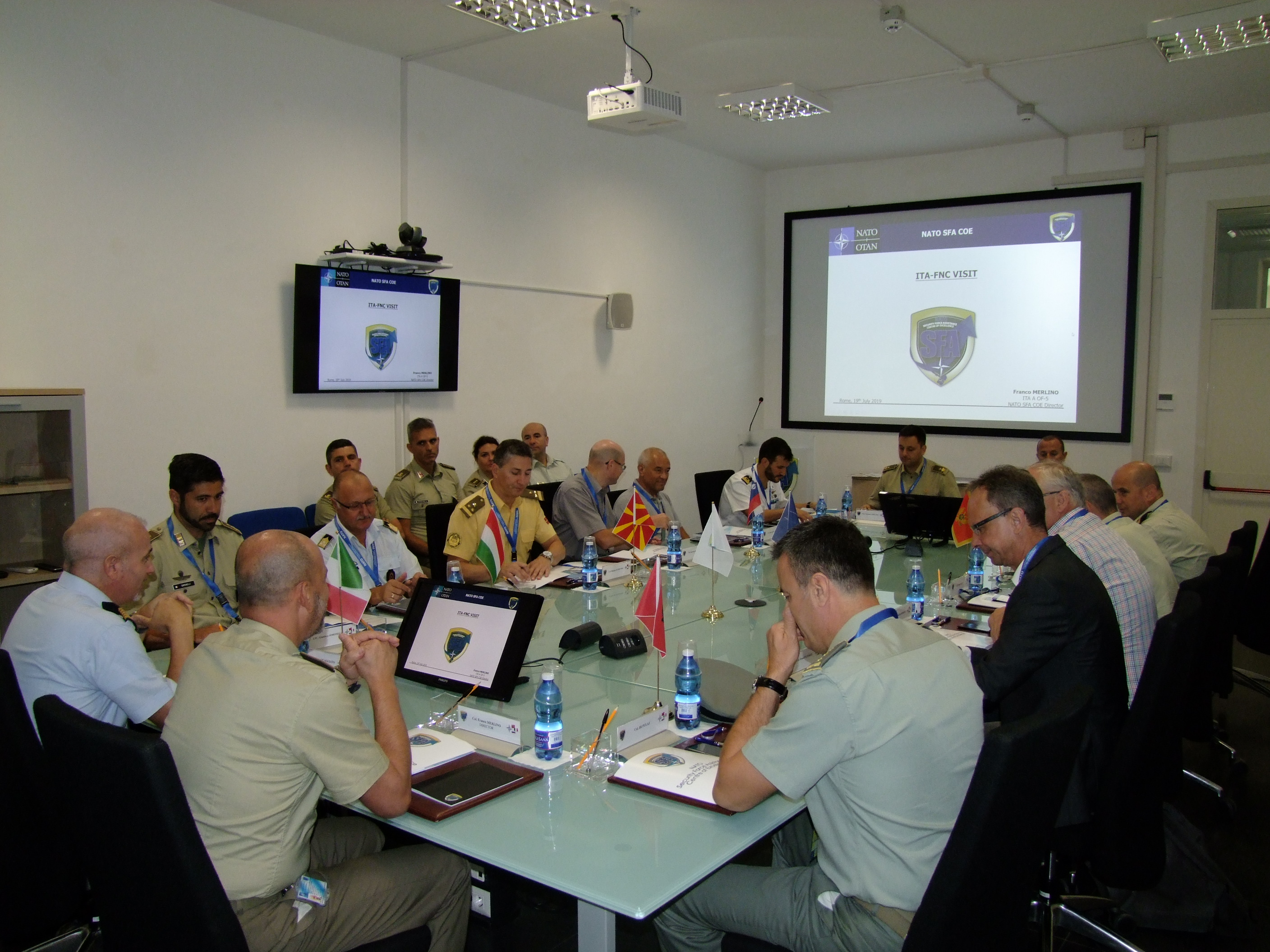 THE FRAMEWORK NATIONS CONCEPT ITALIAN-LED GROUP (FNC-ITA) VISITS THE NATO SFA COE