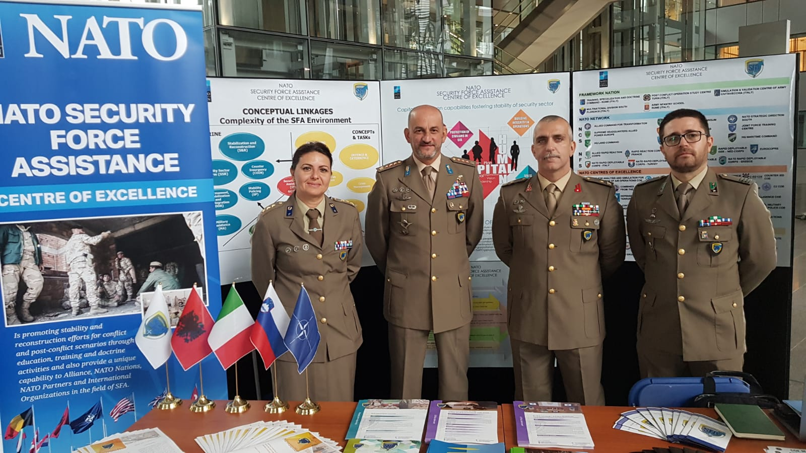 "A NATO SFA COE delegation joined the ""COE MARKETPLACE"" 2019"