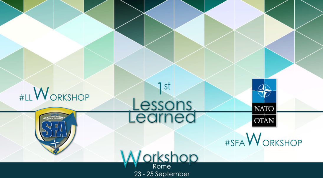1st Lessons Learned Workshop