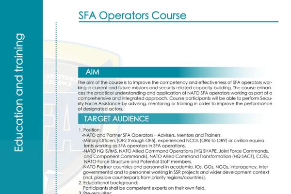 Flayer SFA CourseA