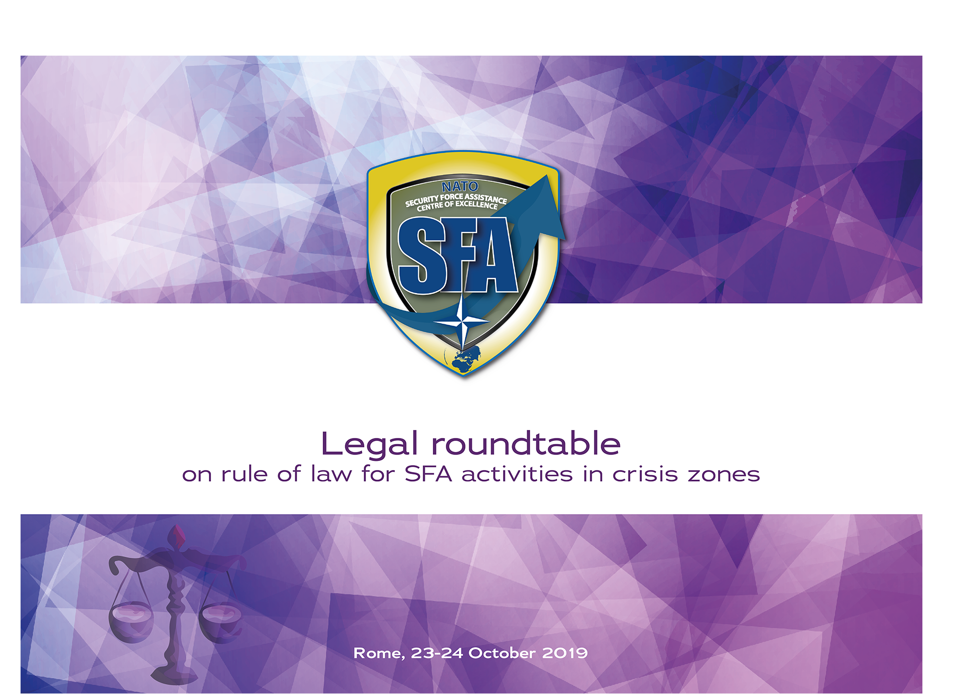 "Legal roundtable on ""Rule of Law for SFA activities in crisis zones"""