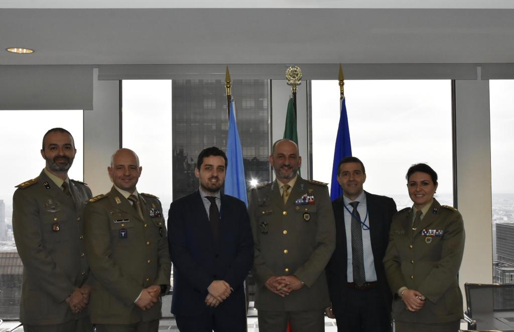 NATO SFA COE met Department of Peace Operations representatives at the Permanent Mission of Italy to the UN