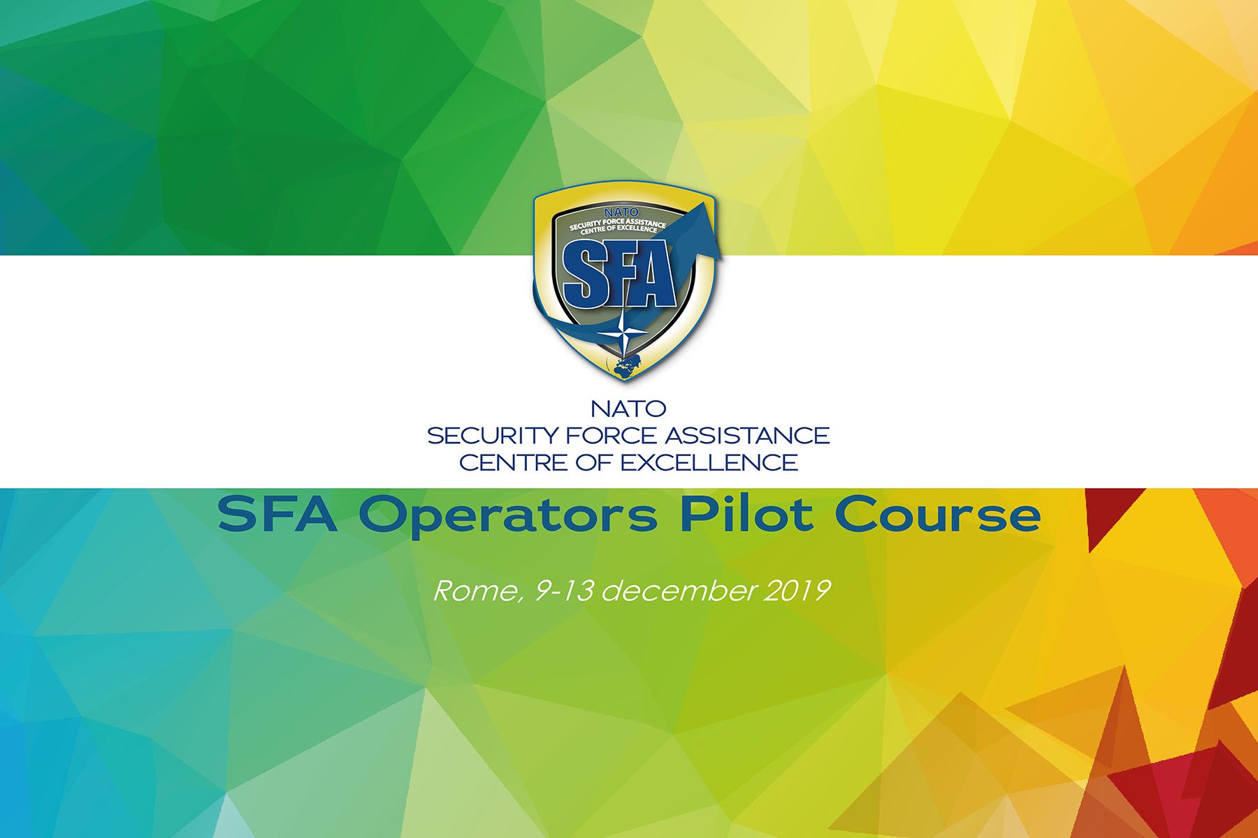 NATO SFA Operators Pilot Course almost ready
