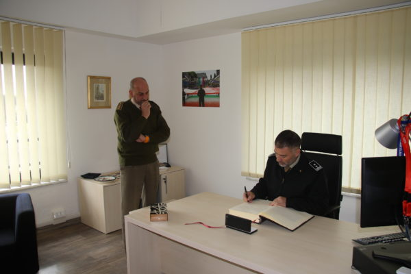Roll of Honour signing by the MG Giovanni Maria IANNUCCI.