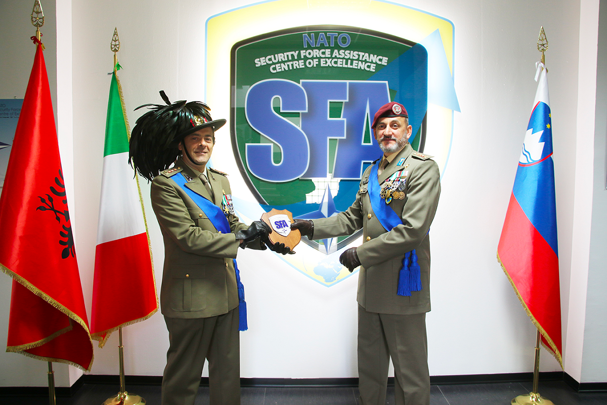 NATO SFA COE Director's Transfer of Authority