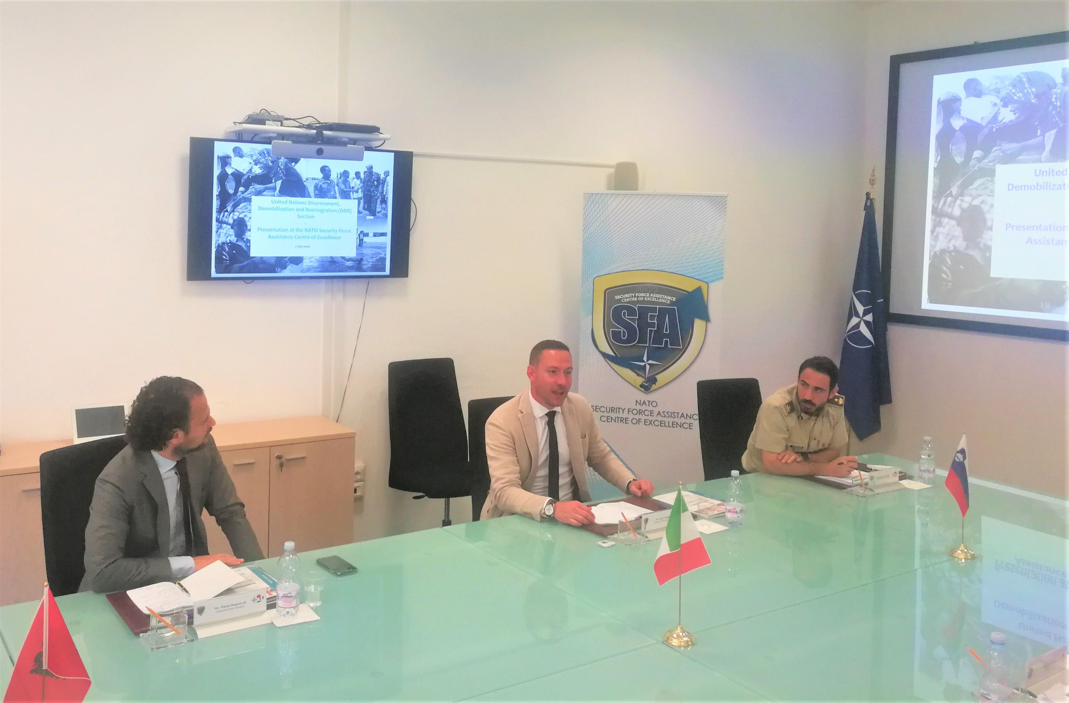 UN OROLSI delegation visits the NATO SFA COE
