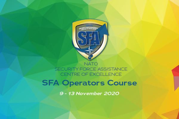 save the date SFA Operators course 9-12 nov 20