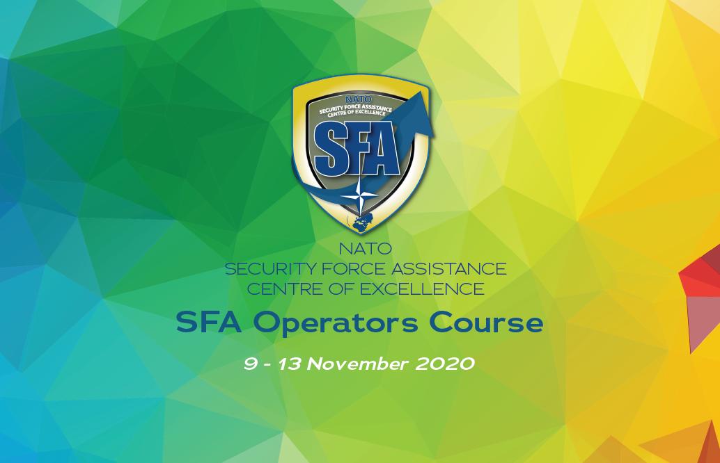 "#SAVETHEDATE – SFA ""Operators"" course: 9 -13 of November 2020"