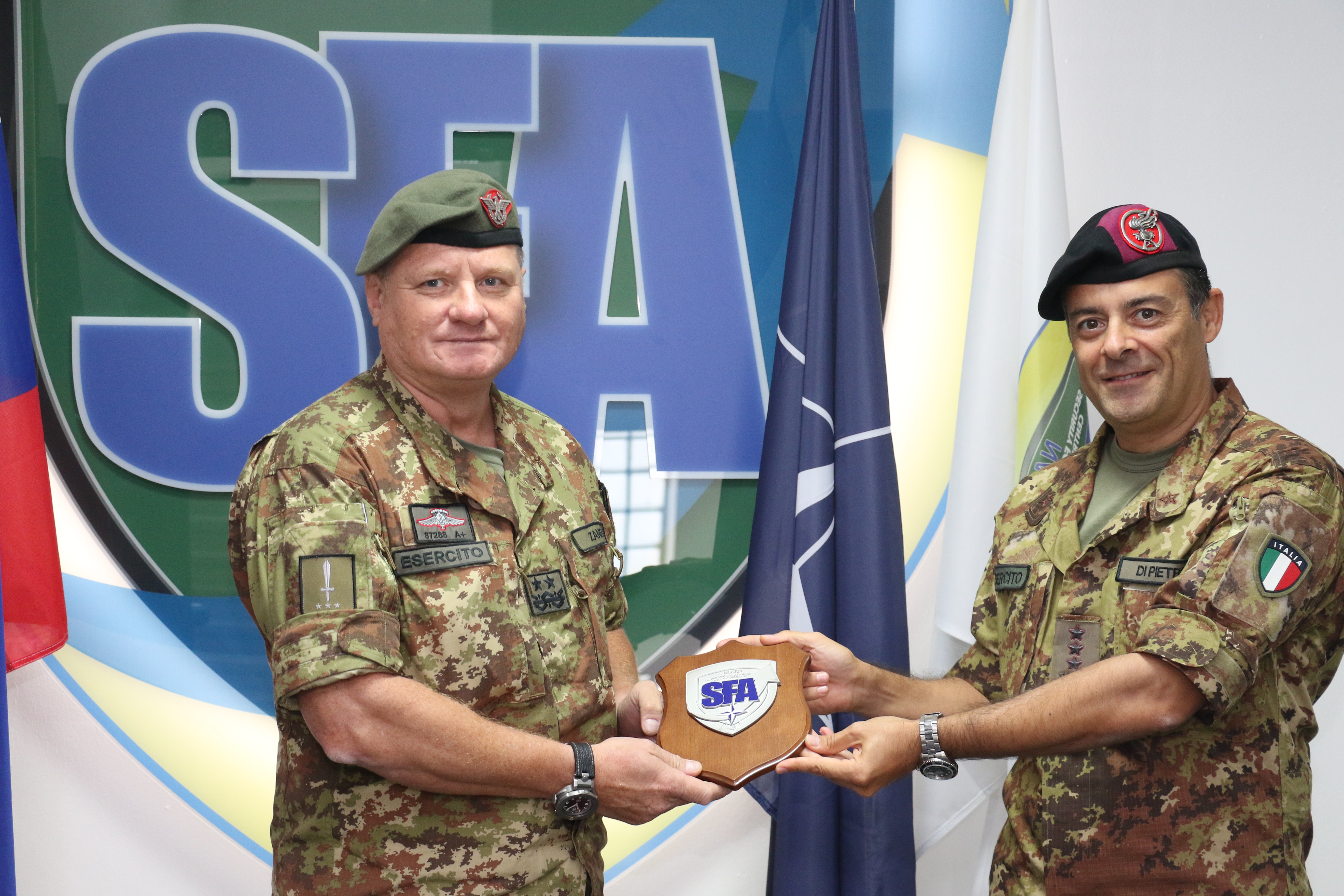Major General Nicola ZANELLI, the future DCOM RSM, visits the NATO SFA COE