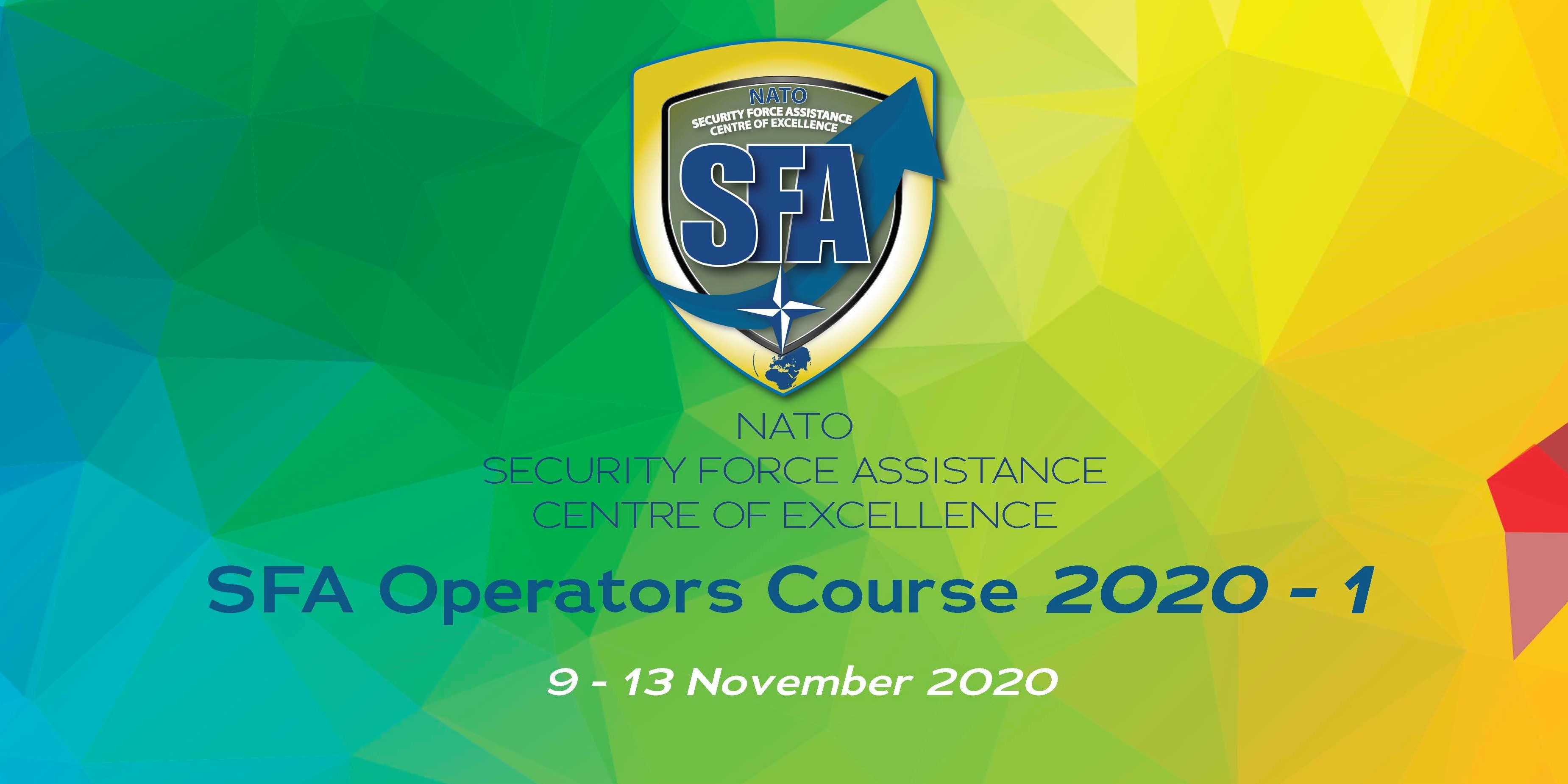 "SFA ""Operators"" course 2020-1: 9 -13 of November 2020"
