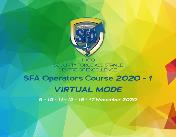 The SFA Operators Course 2020-01 will be Virtual