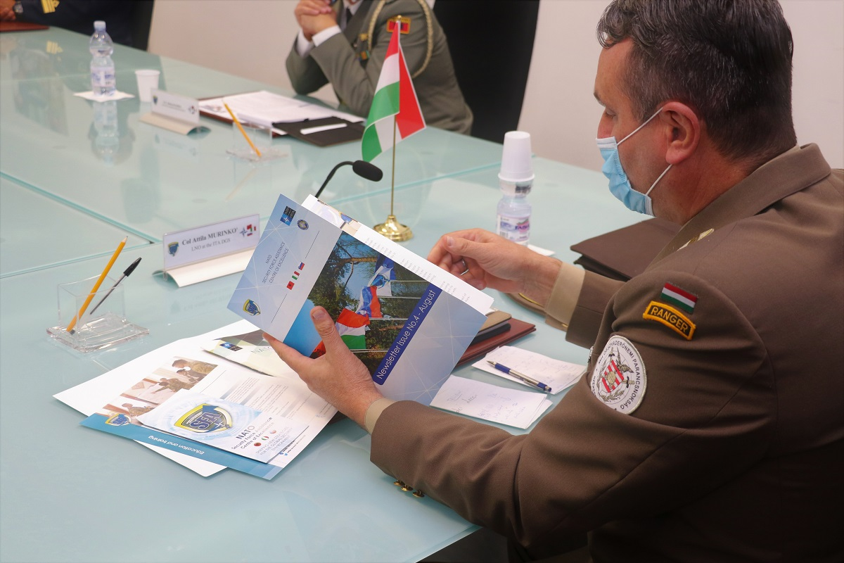 The Hungarian LNO to the Italian Defence General Staff visited the NATO SFA COE