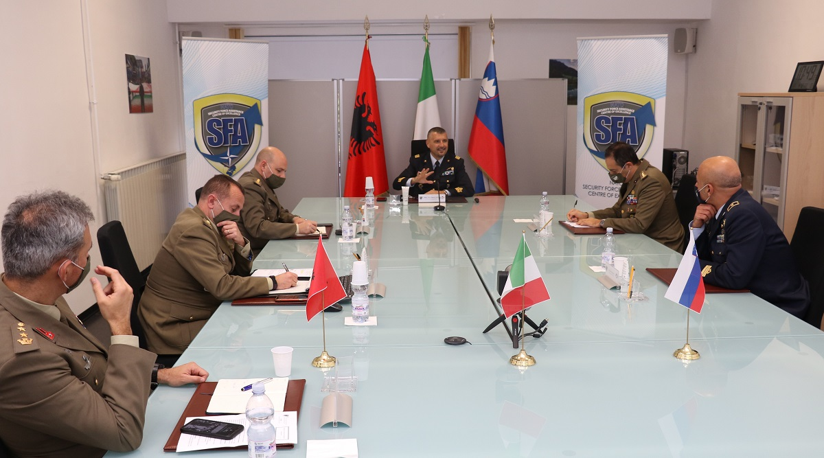 NATO SFA COE welcomed the Italian Air Force Brig. Gen. Marco LANT
