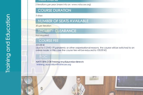 Flyer SFA Operators course back