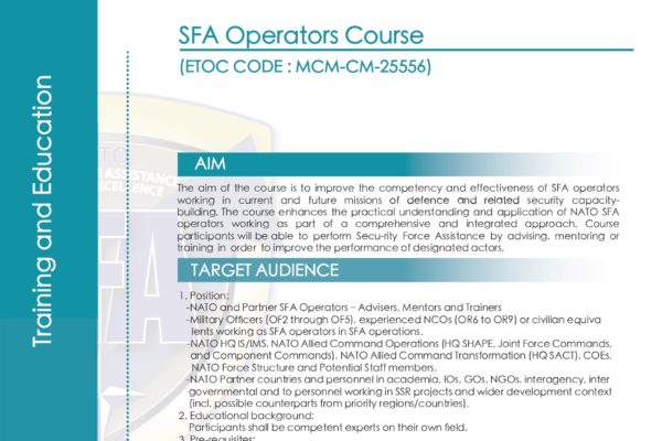 Flyer SFA Operators course front