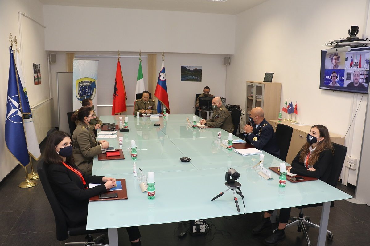 "Virtual meeting between the NATO SFA COE and ""Faro Atlantico-Geopolitica.info"""