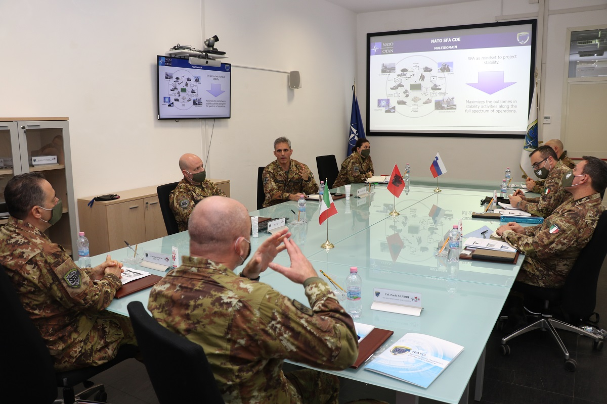 NATO SFA COE was visited by the Chief of the ITA Army Innovation Office