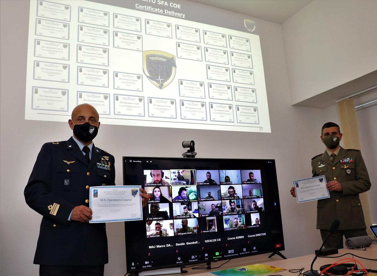NATO SFA COE: successful conclusion of the 1st edition of the 2021 SFA Operators course