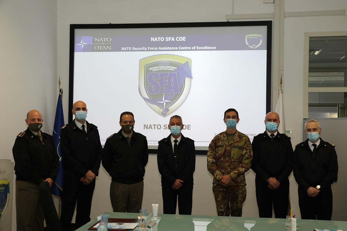 The R. A. Vincenzo Montanaro visited the NATO SFA COE