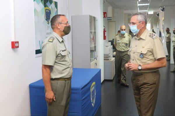 Gen. Ruggiero and the NATO SFA COE Albanian representative
