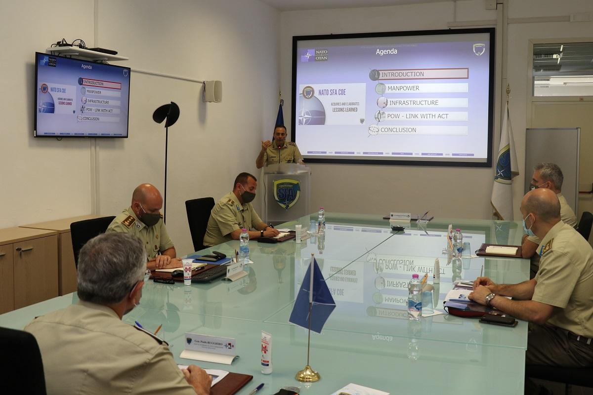 The DSACT, Gen. Paolo RUGGIERO visits the NATO SFA COE