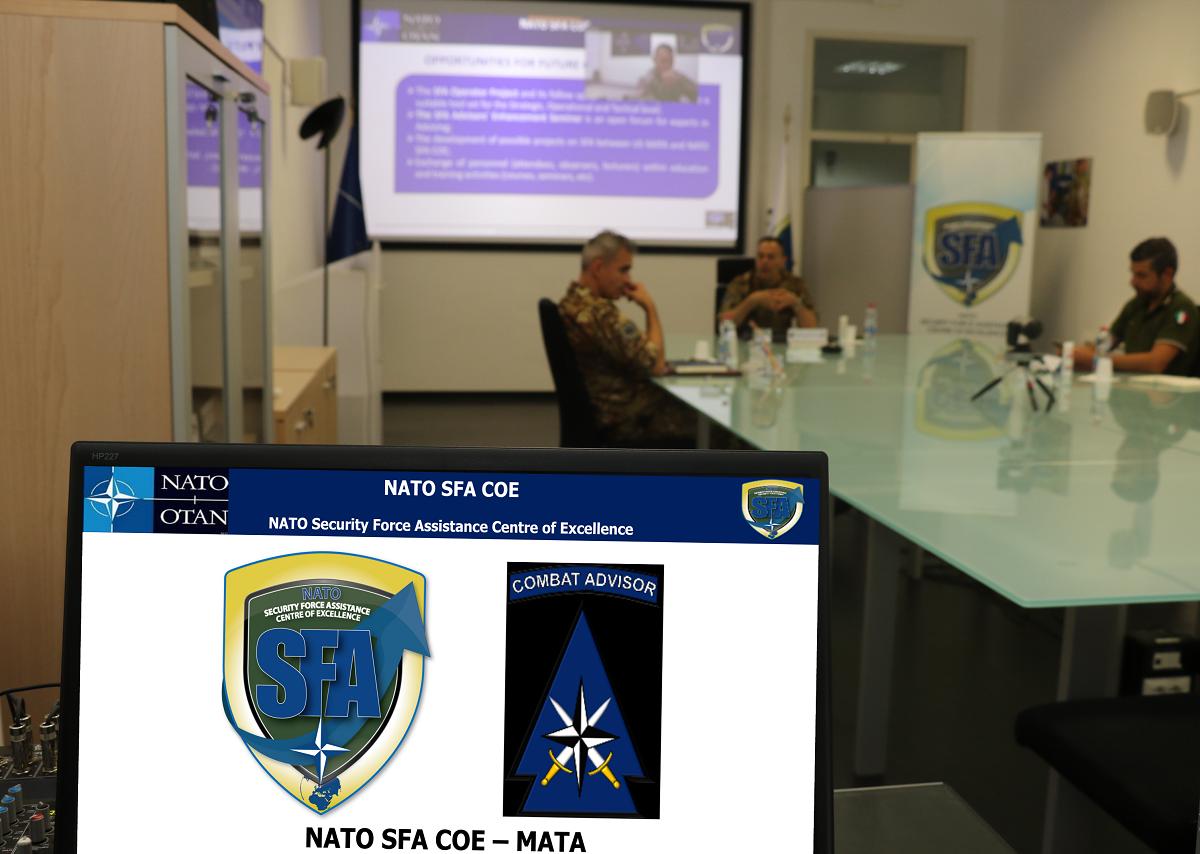 Virtual meeting between NATO SFA COE and US MATA